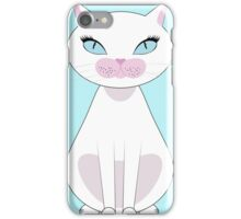 White Cat with blue eyes iPhone Case/Skin