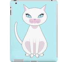 White Cat with blue eyes iPad Case/Skin