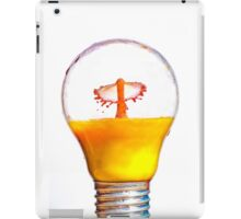 High-speed flash photograph liquid droplet inside a sealed light bulb.  iPad Case/Skin