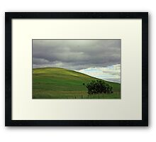 Over the hill Framed Print