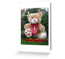 Be my Valentine Bear Greeting Card