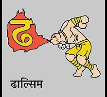 'Dha' se 'Dhalsim' by tshirtbaba