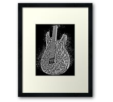 Guitar Liquid Metal Framed Print
