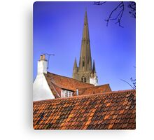 Sleepy Town Roof Tops Canvas Print