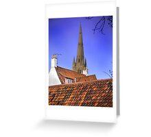 Sleepy Town Roof Tops Greeting Card
