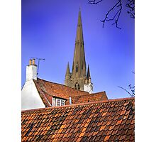 Sleepy Town Roof Tops Photographic Print