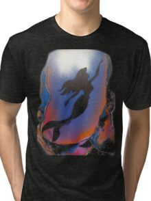 Mermaid reaching Surface Tri-blend T-Shirt