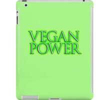 VEGAN POWER, Raw, Veganism, Strict Vegetarians, Diet, non-dairy vegetarian iPad Case/Skin
