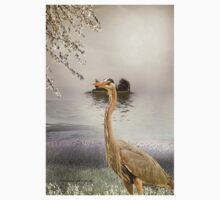 Great Blue Heron at Dusk Kids Clothes