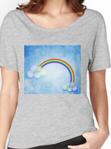 Abstract rainbow clouds Women's Relaxed Fit T-Shirt