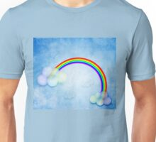 Abstract rainbow clouds Unisex T-Shirt