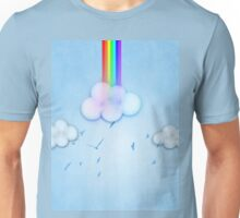 Abstract rainbow clouds 2 Unisex T-Shirt
