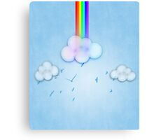 Abstract rainbow clouds 2 Canvas Print