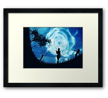 Abstract rose of clouds Framed Print