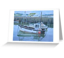 Fishing Boat, West Bay Greeting Card