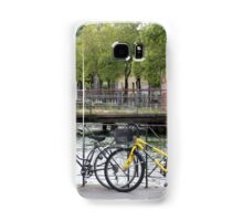 Bicycles by the river Samsung Galaxy Case/Skin