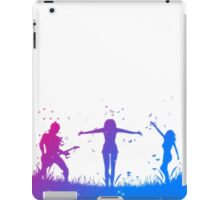 People silhouettes with grass and butterflies iPad Case/Skin