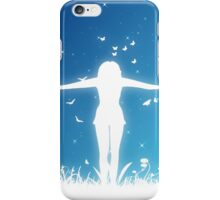 People silhouettes with grass and butterflies 2 iPhone Case/Skin