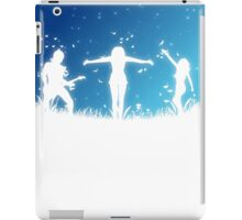 People silhouettes with grass and butterflies 2 iPad Case/Skin