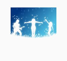 People silhouettes with grass and butterflies 2 Unisex T-Shirt