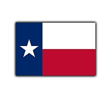 TEXAS FLAG, Flag of the state of Texas, USA, America, American by TOM HILL - Designer