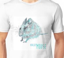 The hungry mouse - blue ink drawing Unisex T-Shirt