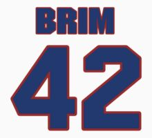 National football player Michael Brim jersey 42 by imsport