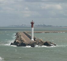 Harbour entrance at Dunkerque in France by johnny2sheds