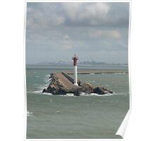 Harbour entrance at Dunkerque in France Poster