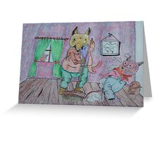 The sweeping mouse. Greeting Card