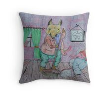 The sweeping mouse. Throw Pillow
