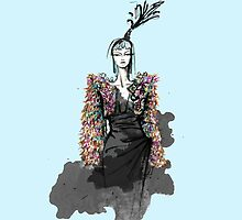 Schiaparelli Couture Illustration  by clairemarice