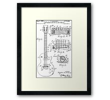 Les Paul  Guitar patent from 1955 Framed Print