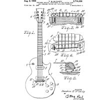 Les Paul  Guitar patent from 1955 Photographic Print