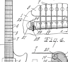 Les Paul  Guitar patent from 1955 Sticker