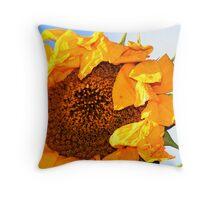 Dying Sun Flower Throw Pillow