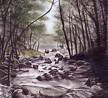 Cascades du Herisson by Charlotte Rose