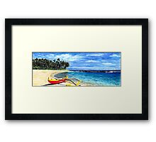 Blue Hawaii Red Kayak By Yuriy B. Framed Print