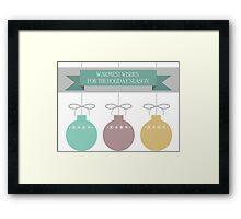 Holiday Ornaments Framed Print