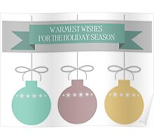 Holiday Ornaments Poster