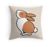 Proud Dutch Rabbit ... Brown and White Throw Pillow