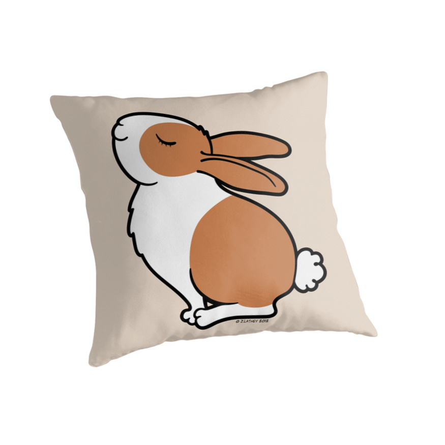 Proud Dutch Rabbit ... Brown and White by Zoe Lathey