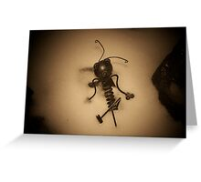 Frozen bug Greeting Card