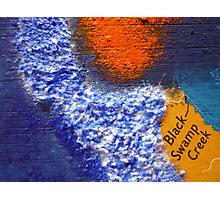 Black Swamp Creek Maryland abstract collage Photographic Print