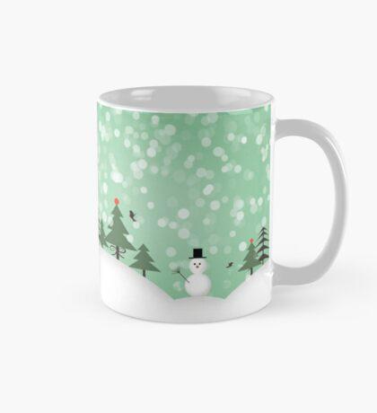 snowman with trees Mug