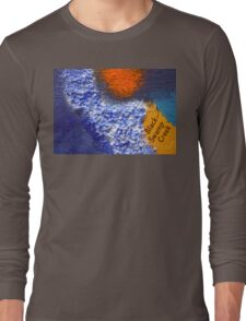 Black Swamp Creek Maryland abstract collage Long Sleeve T-Shirt