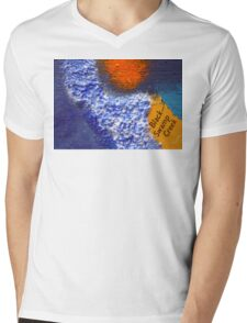 Black Swamp Creek Maryland abstract collage Mens V-Neck T-Shirt