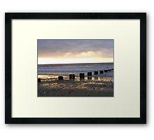 Bridlington North Beach Sunrise Framed Print