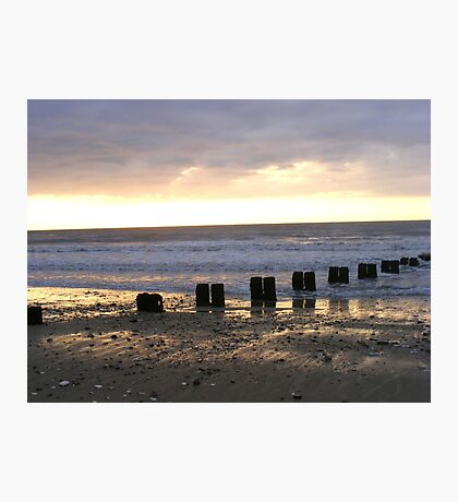 Bridlington North Beach Sunrise Photographic Print