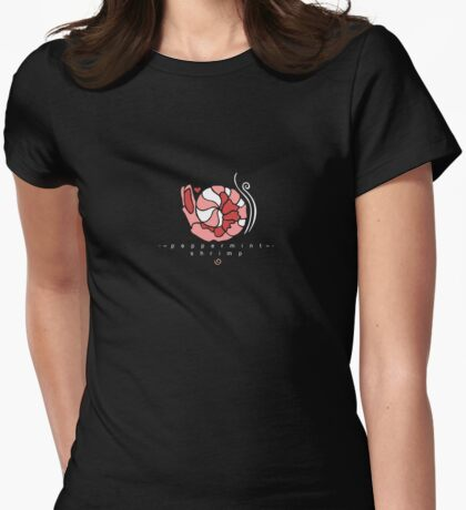 Peppermint Shrimp Womens Fitted T-Shirt
